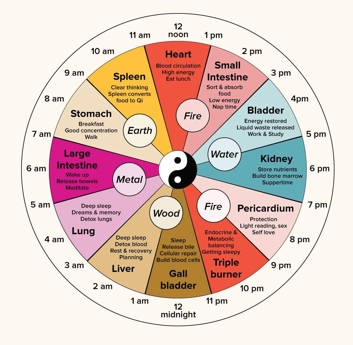 جدول زمانی ارگانهای نظارتکنندهی نصفالنهارها